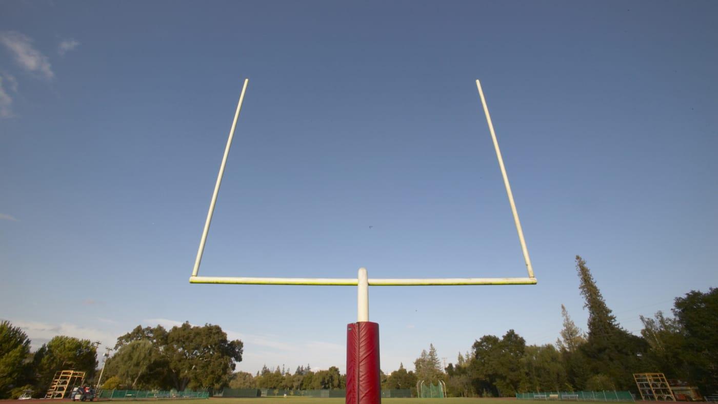 High School Football goal posts
