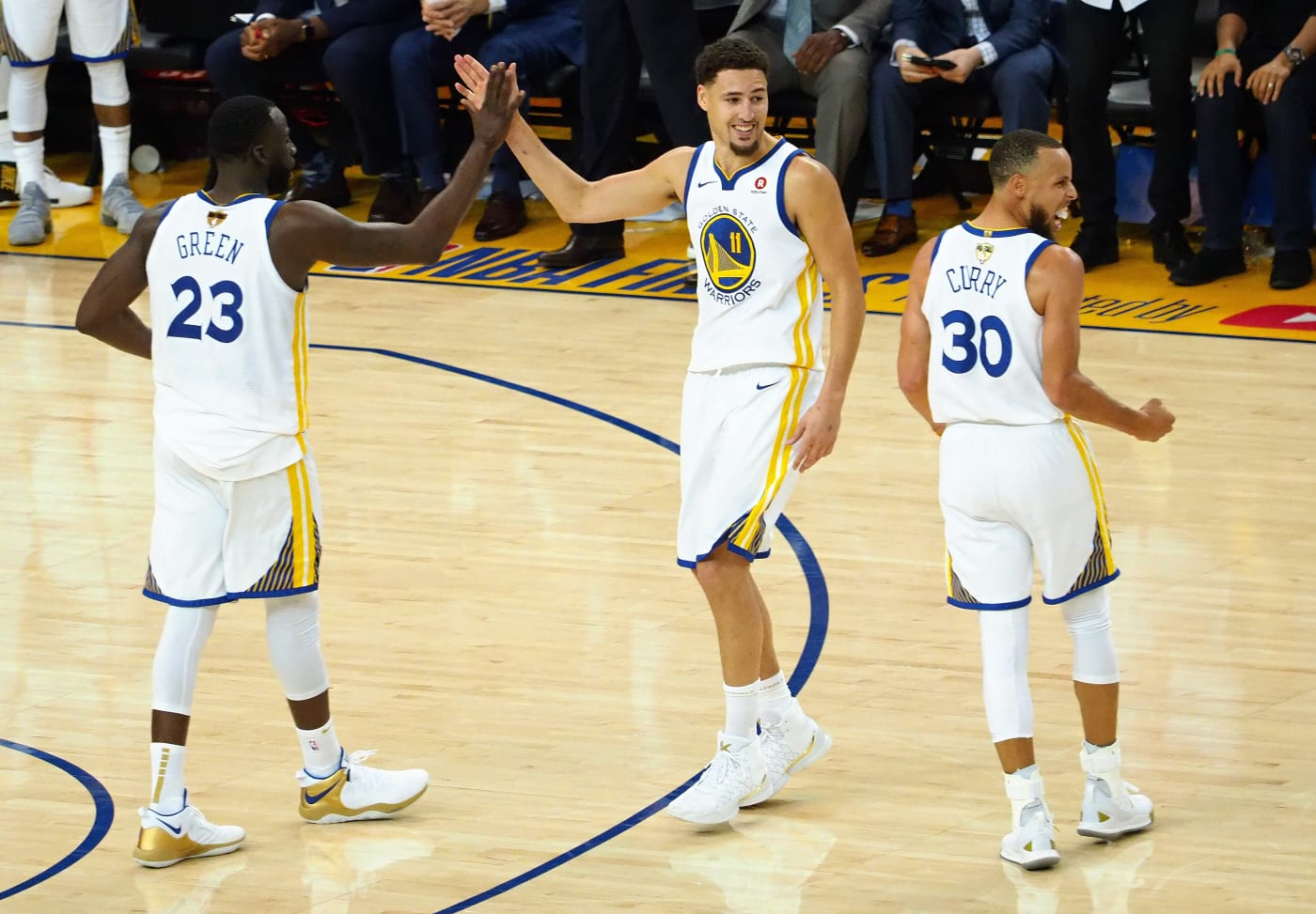 Draymond Green Klay Thompson Stephen Curry 2018 Playoffs