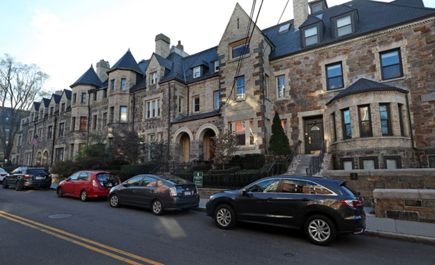 Beaconsfield Terrace town houses in Brookline, MA