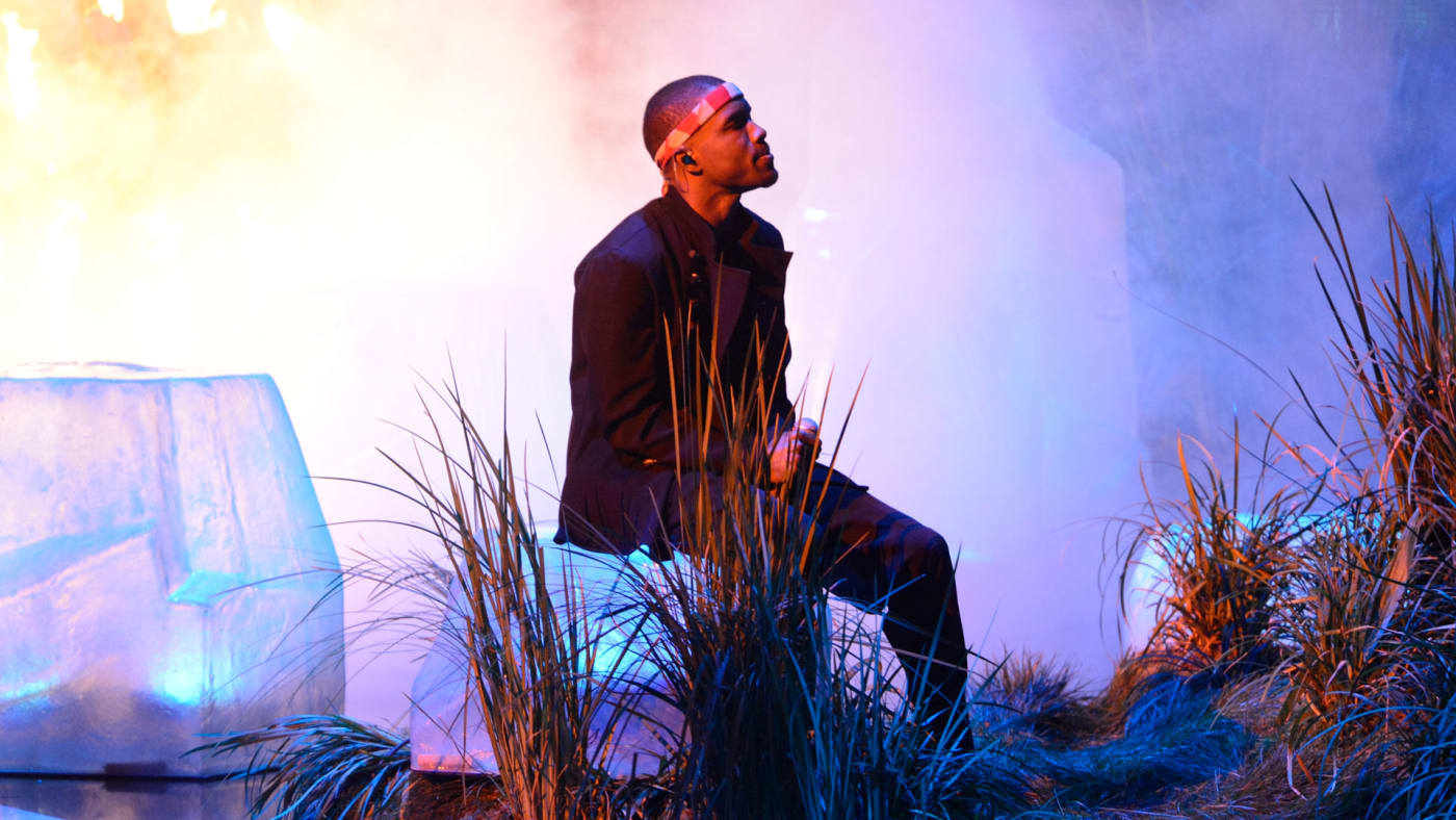 Frank ocean performs in 2012.