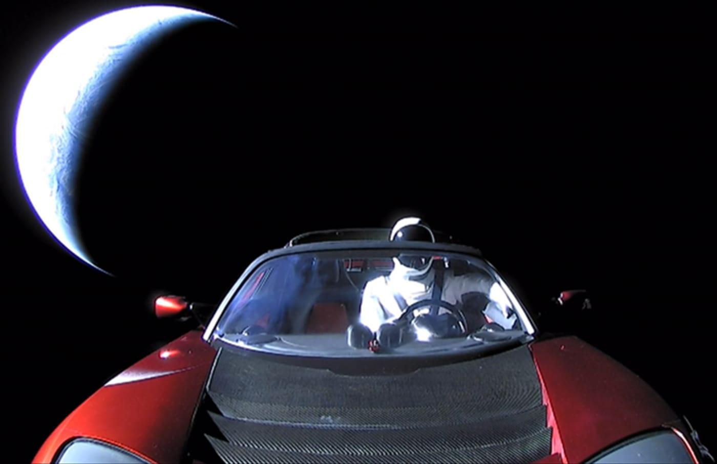 space x starman getty handout