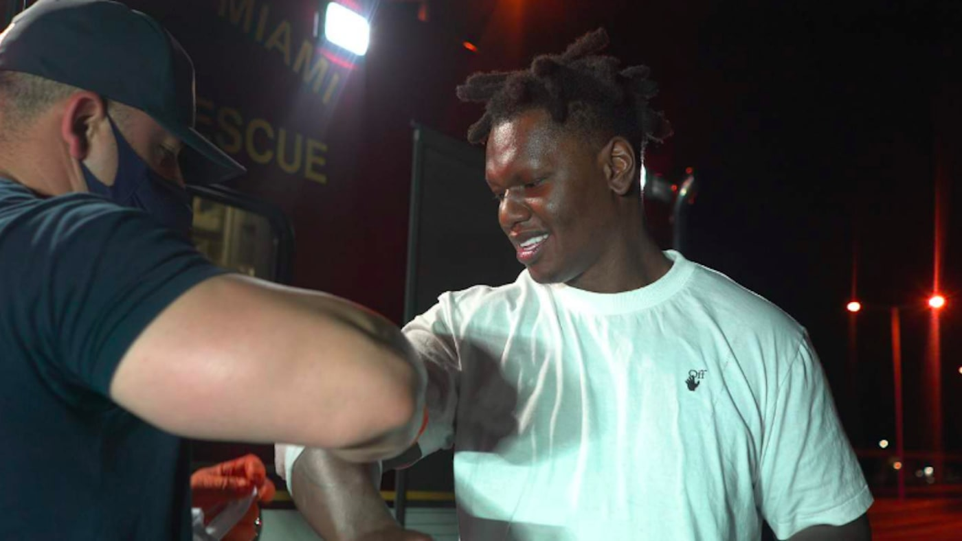 South Florida rapper Tafia being treated by City of Miami Fire Rescue