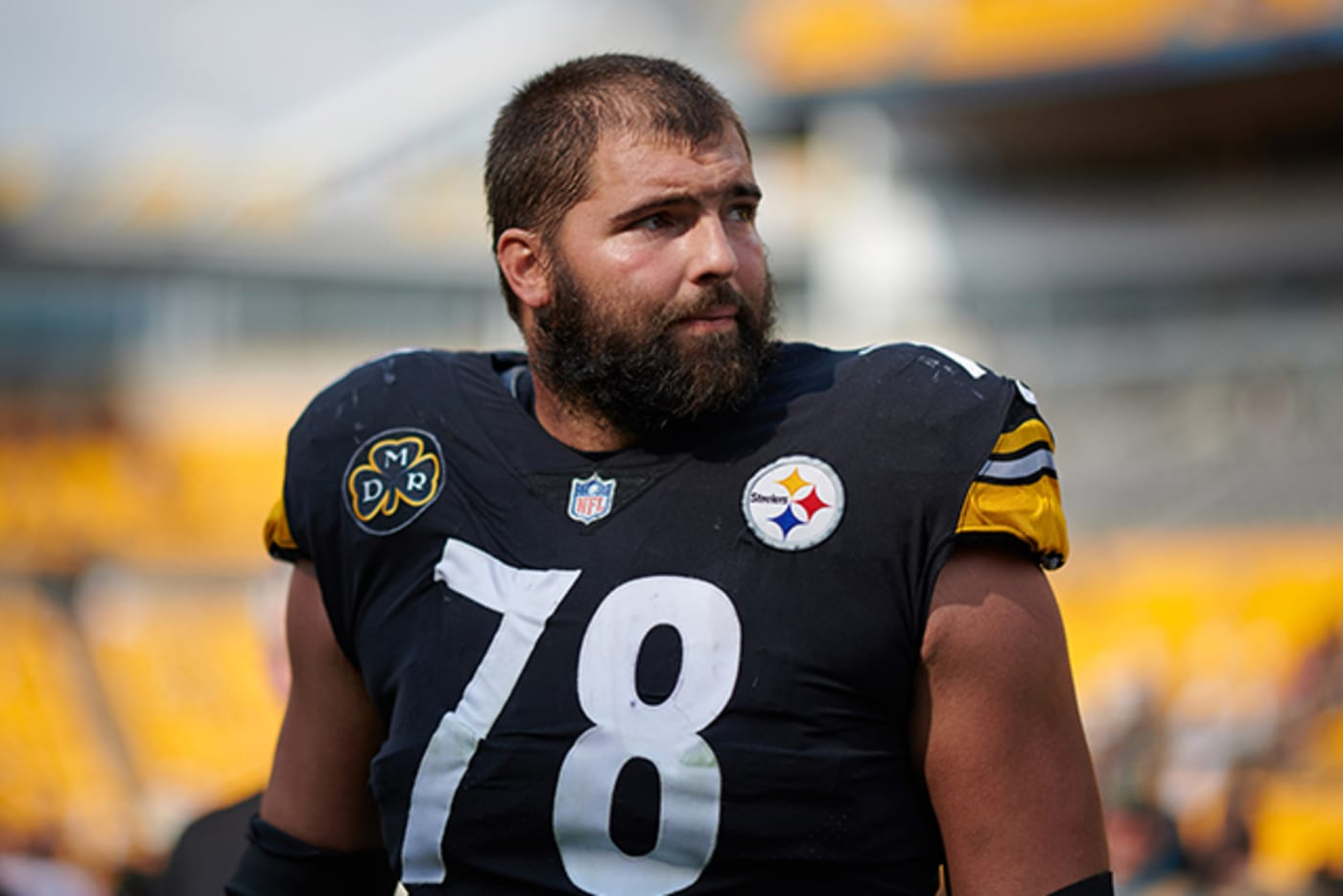 Offensive tackle Alejandro Villanueva #78 of the Pittsburgh Steelers
