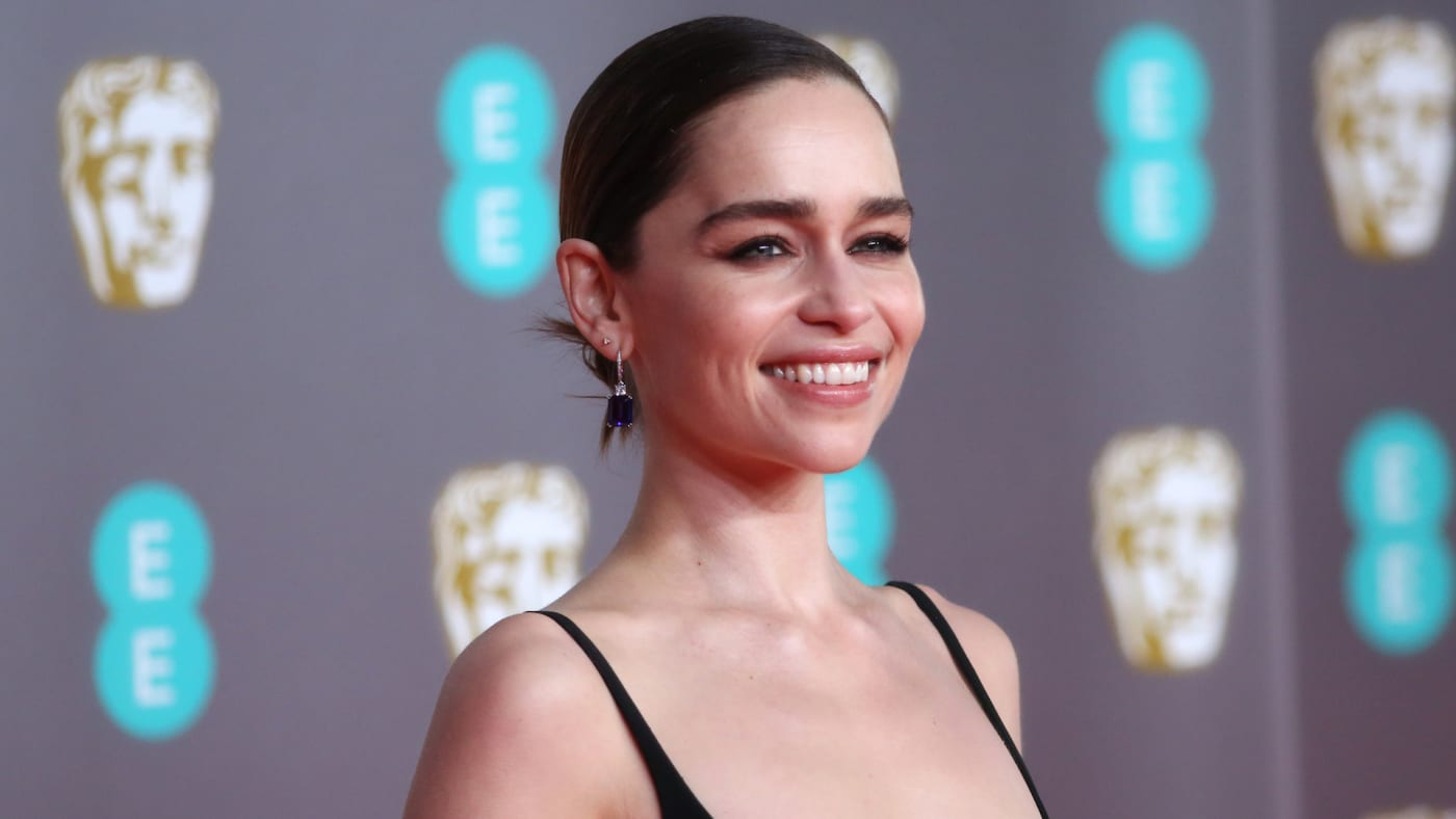 Emilia Clarke attends the EE British Academy Film Awards 2020.