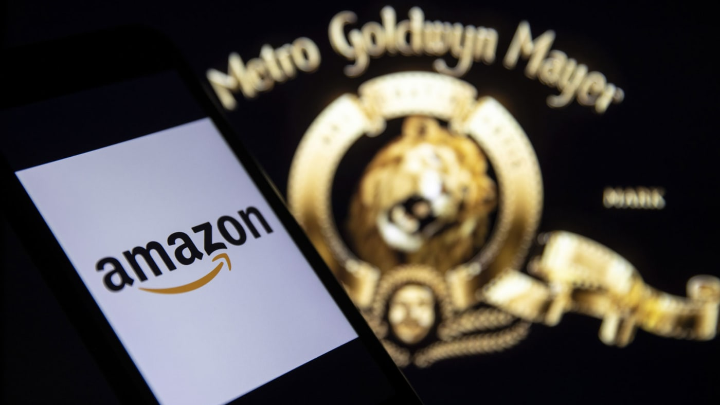 The Amazon and MGM logos