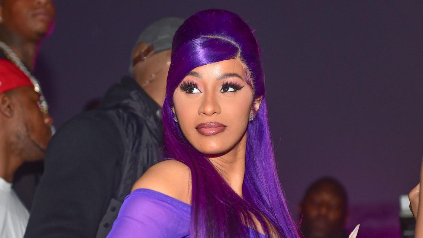 cardi b purple