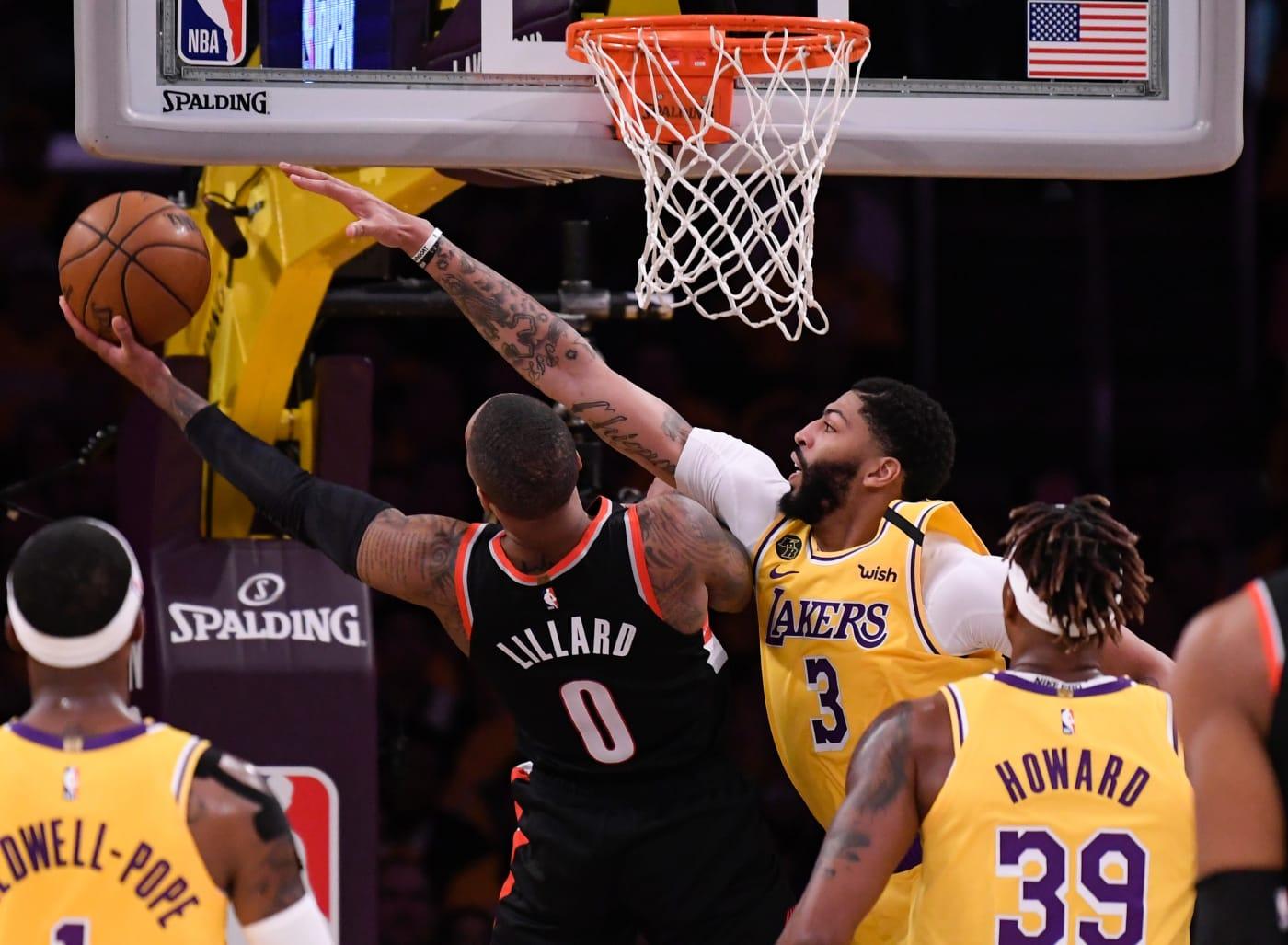 Damian Lillard Anthony Davis Blazers Lakers LA 2020