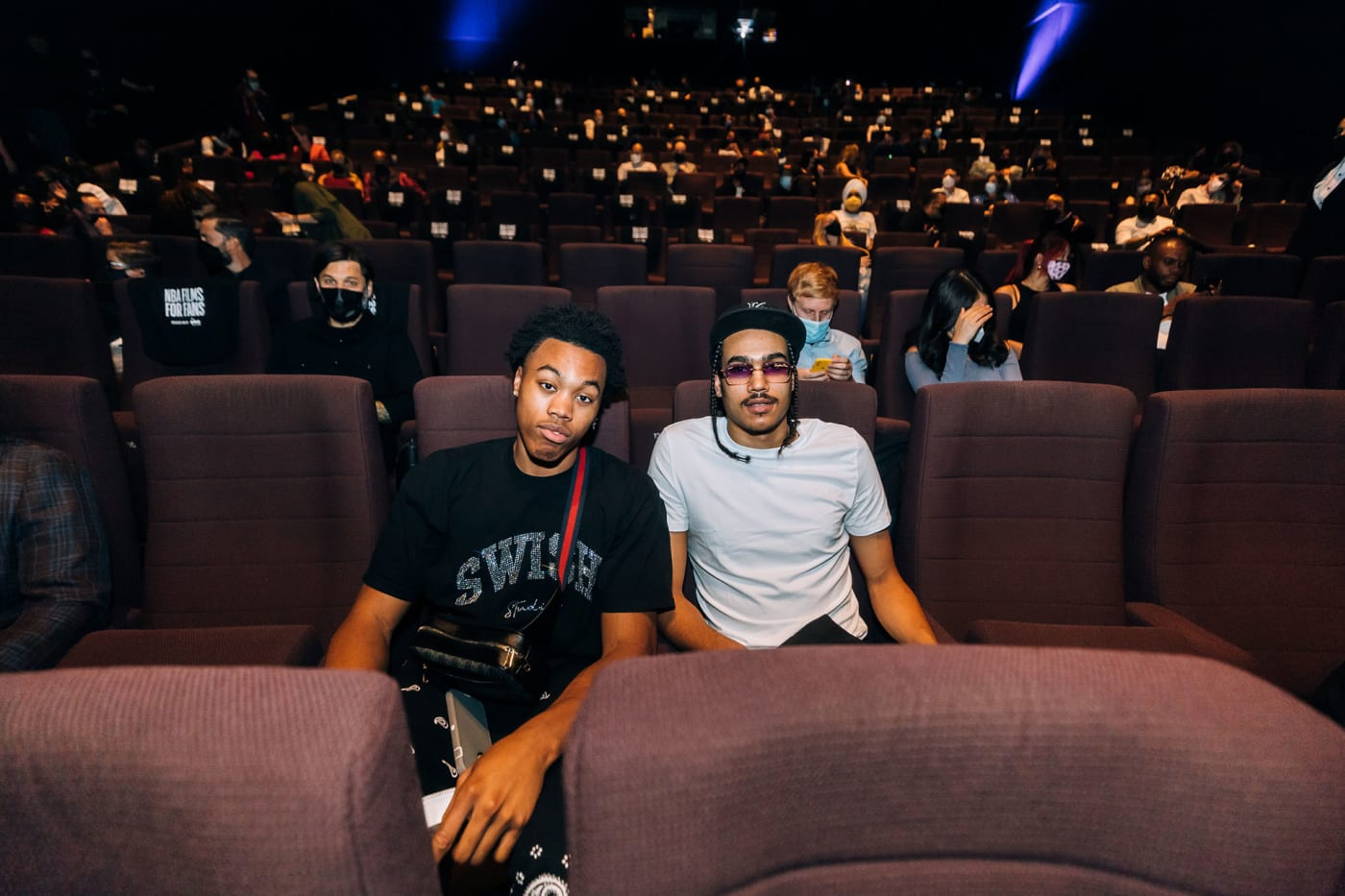Scottie Barnes and Dalano Banton check out NBA Films for Fans at TIFF