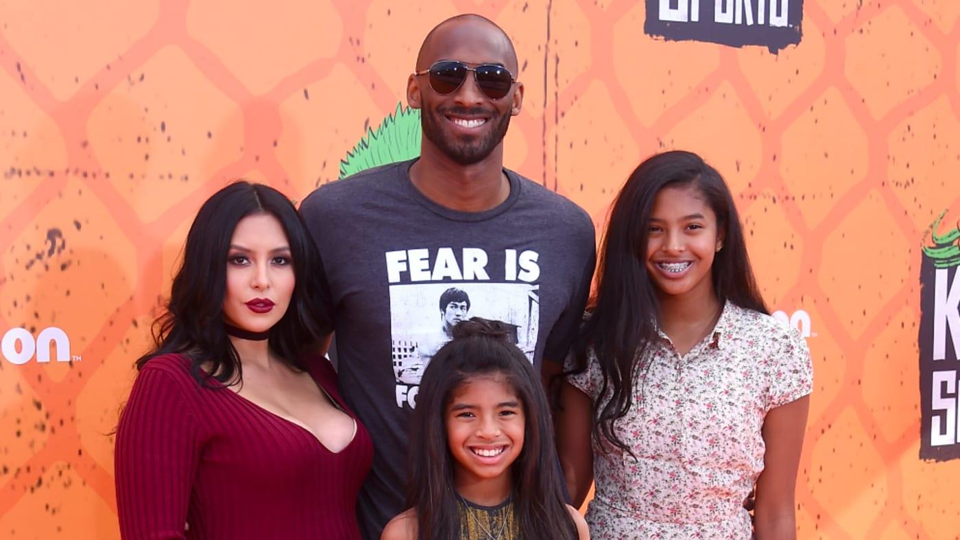 Kobe Bryant, Vanessa Bryant, Gianna Maria Onore Bryant, and Natalia Diamante Bryant