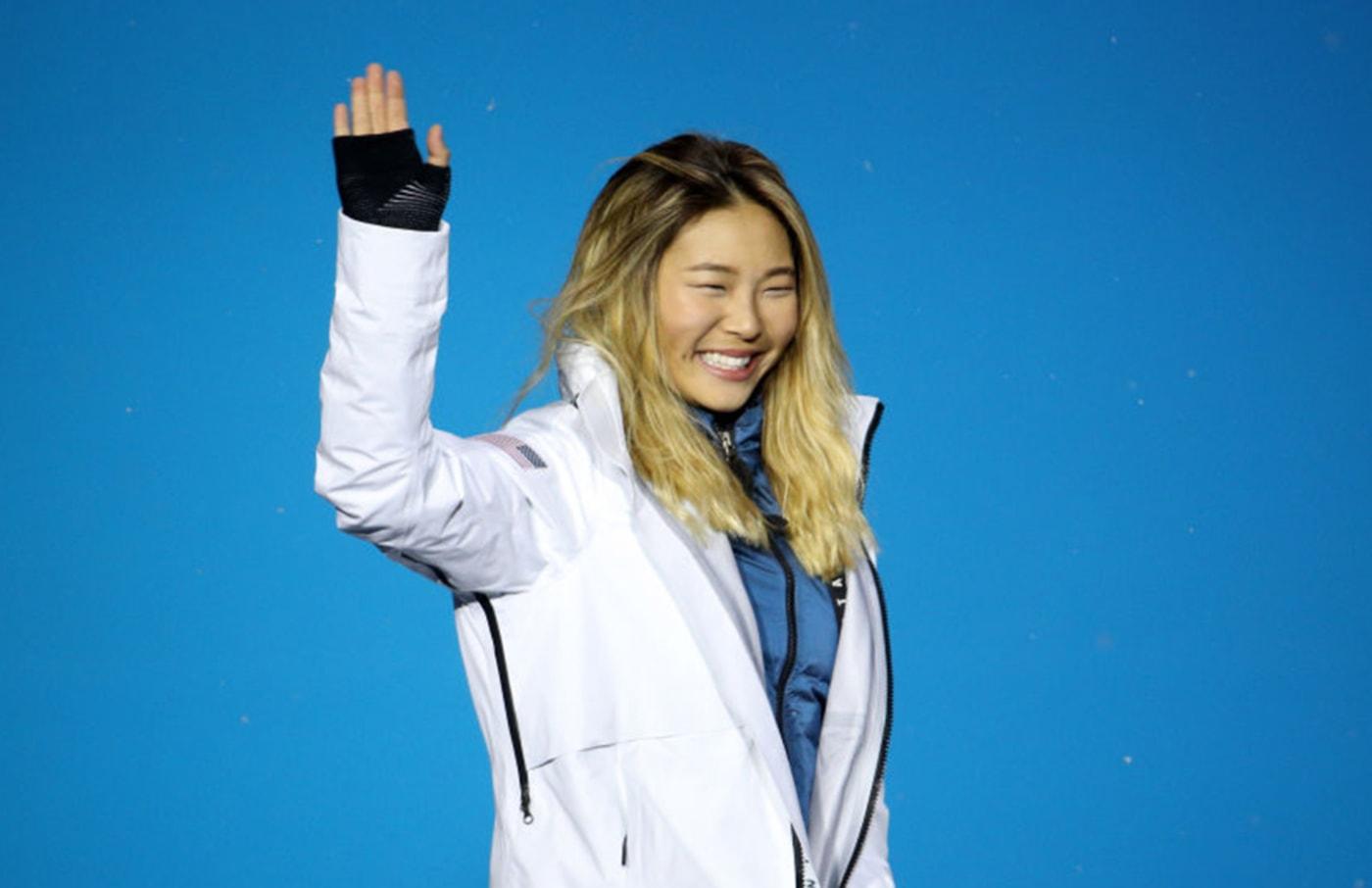 chloe kim medal ceremony migos getty