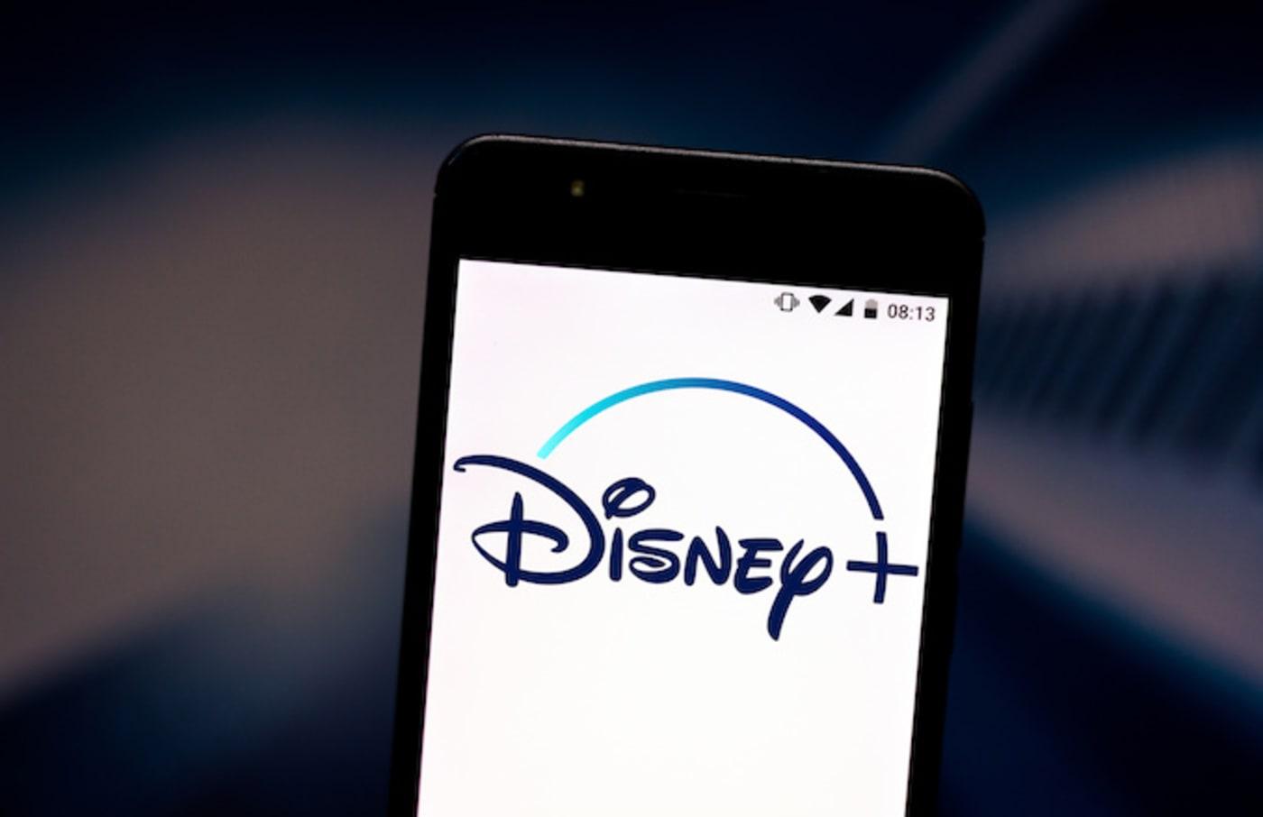 Disney+ (Plus) logo seen displayed on a smartphone.
