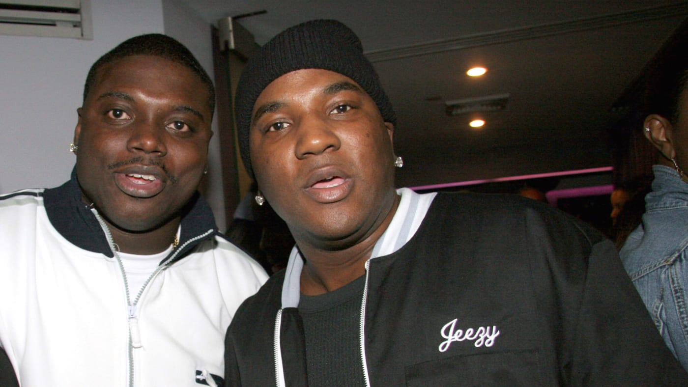 Kinky B and Young Jeezy during Young Jeezy's Birthday Party