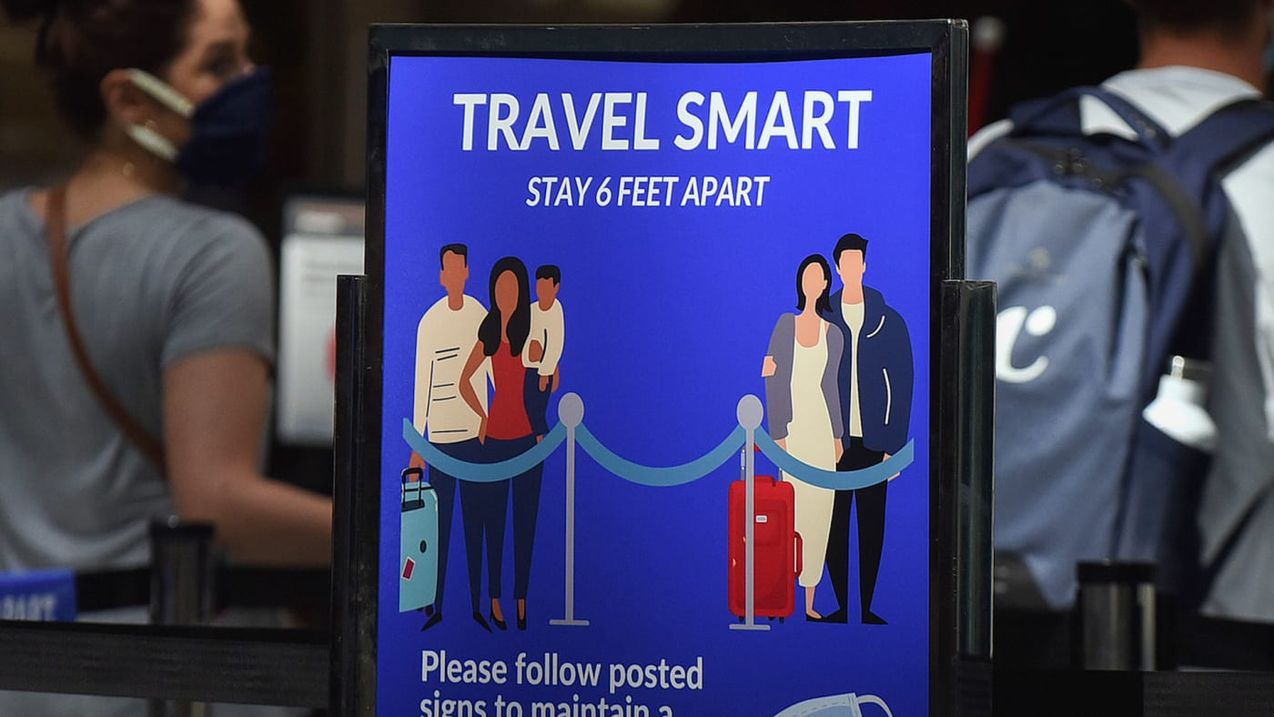 Screening checkpoint at Orlando International Airport