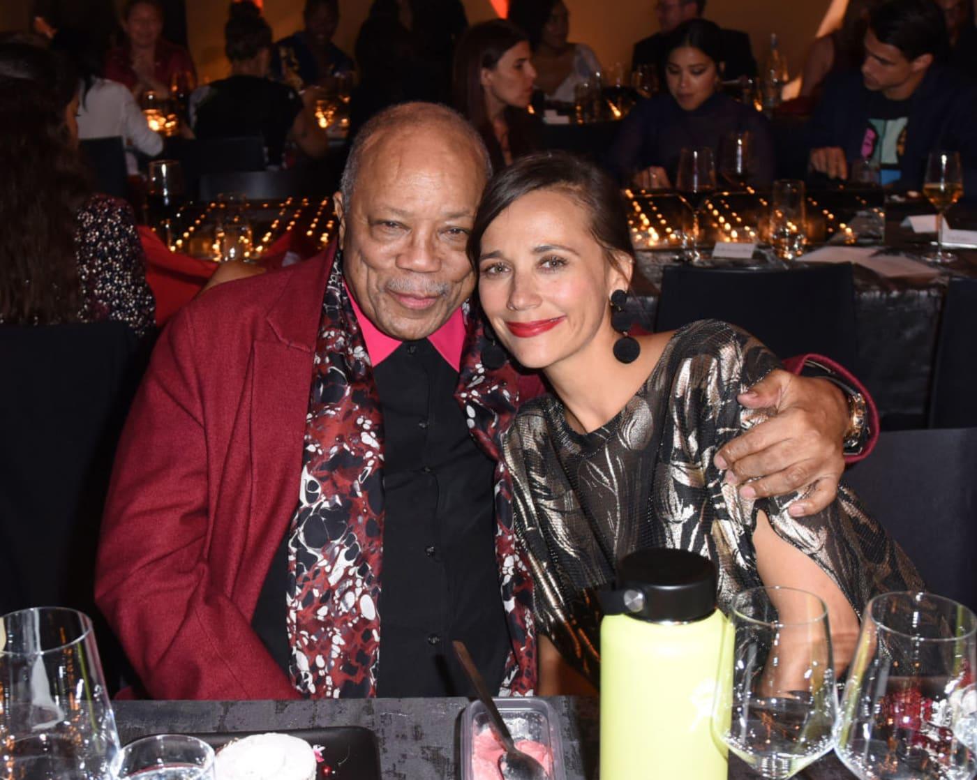 Quincy Jones and Rashida Jones.