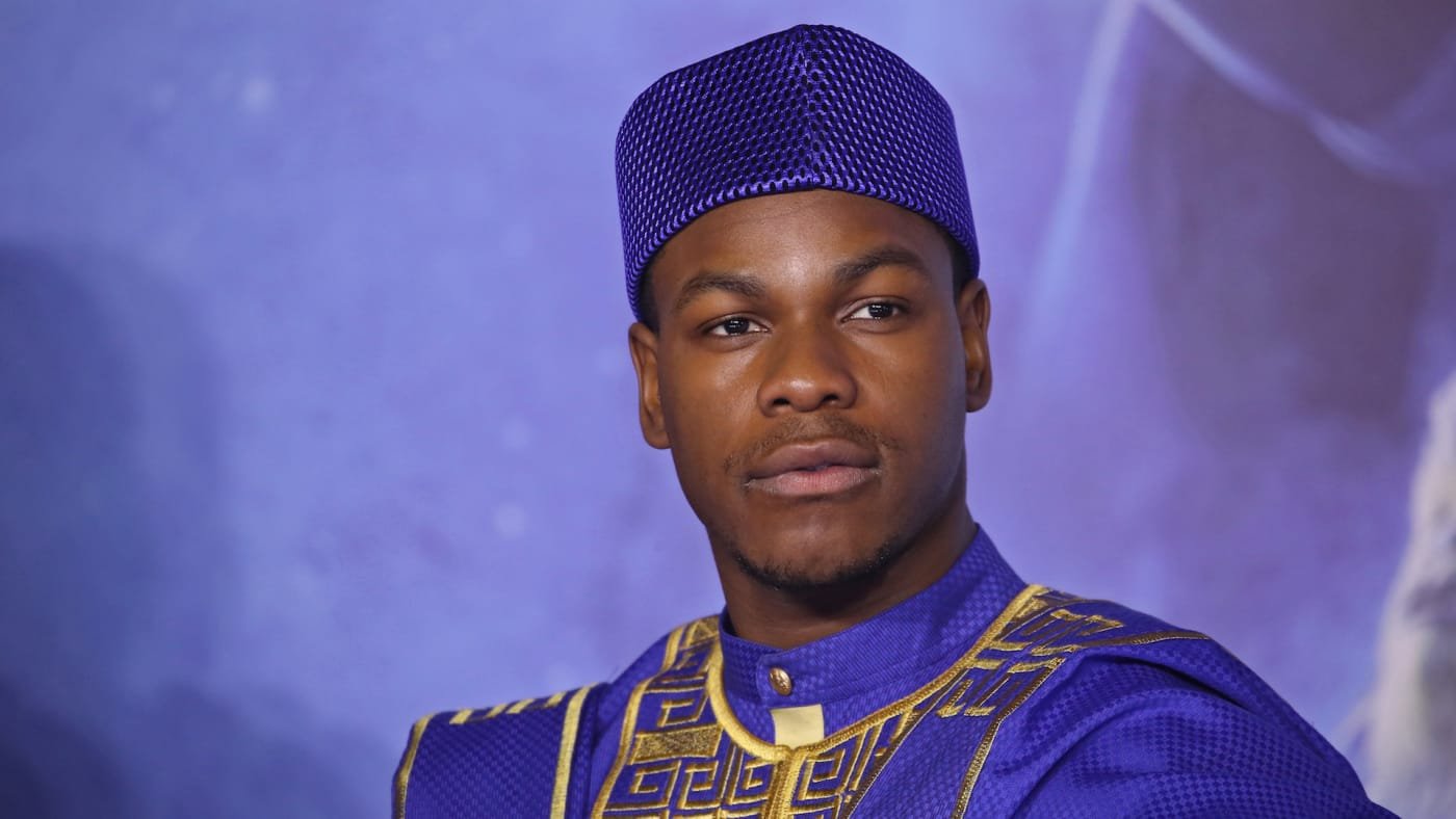 "John Boyega attends ""Star Wars: The Rise of Skywalker"" European Premiere."