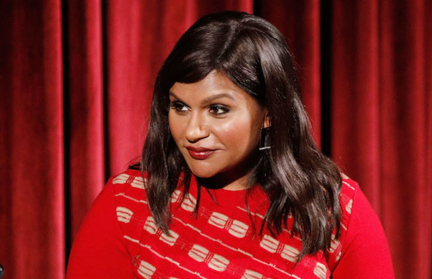 """Mindy Kaling during the Academy of Motion Picture Arts and Sciences screening of """"Late Night."""""""