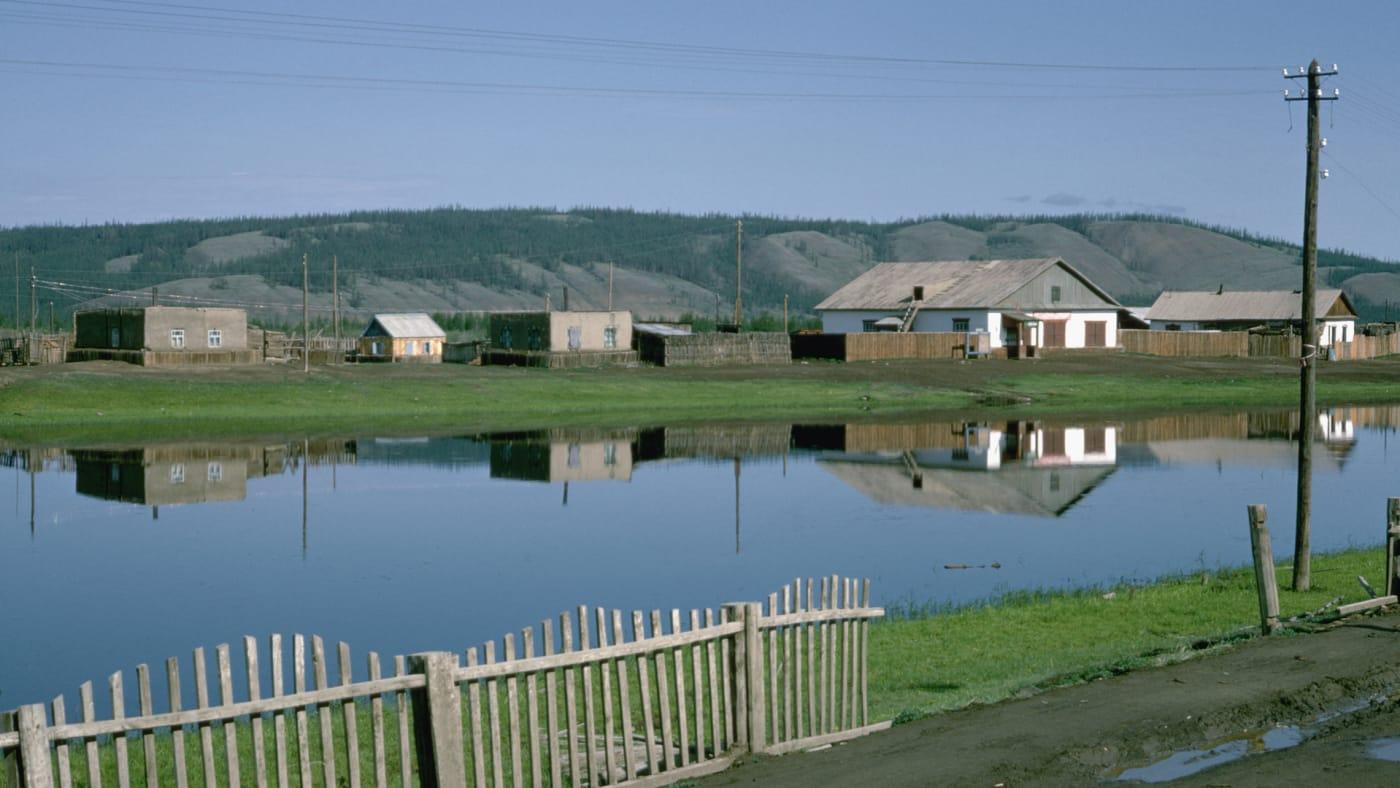 Rural scene in Verkhoyansk, USSR.