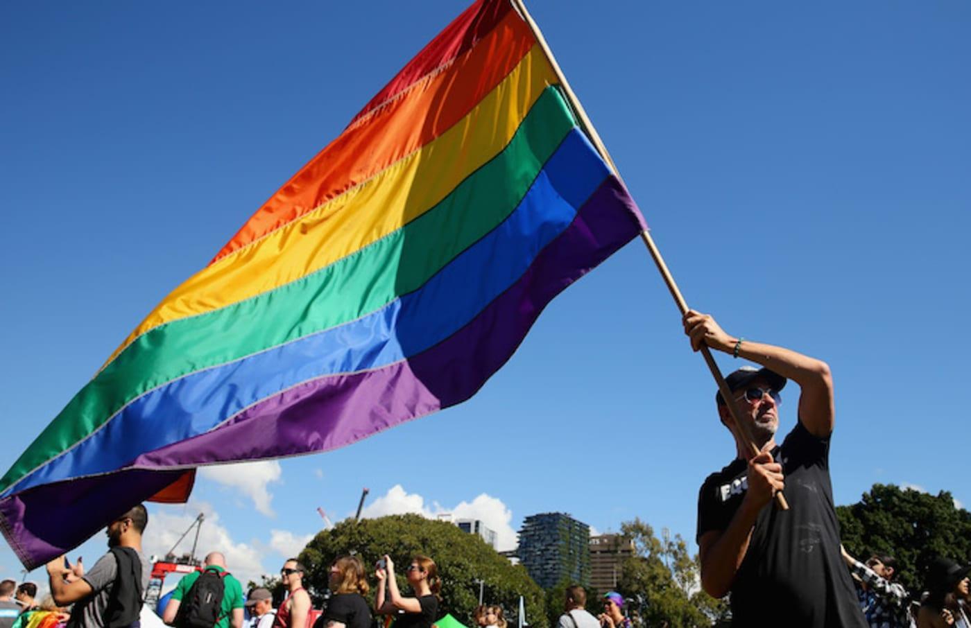 The Rainbow Flag in Sydney.