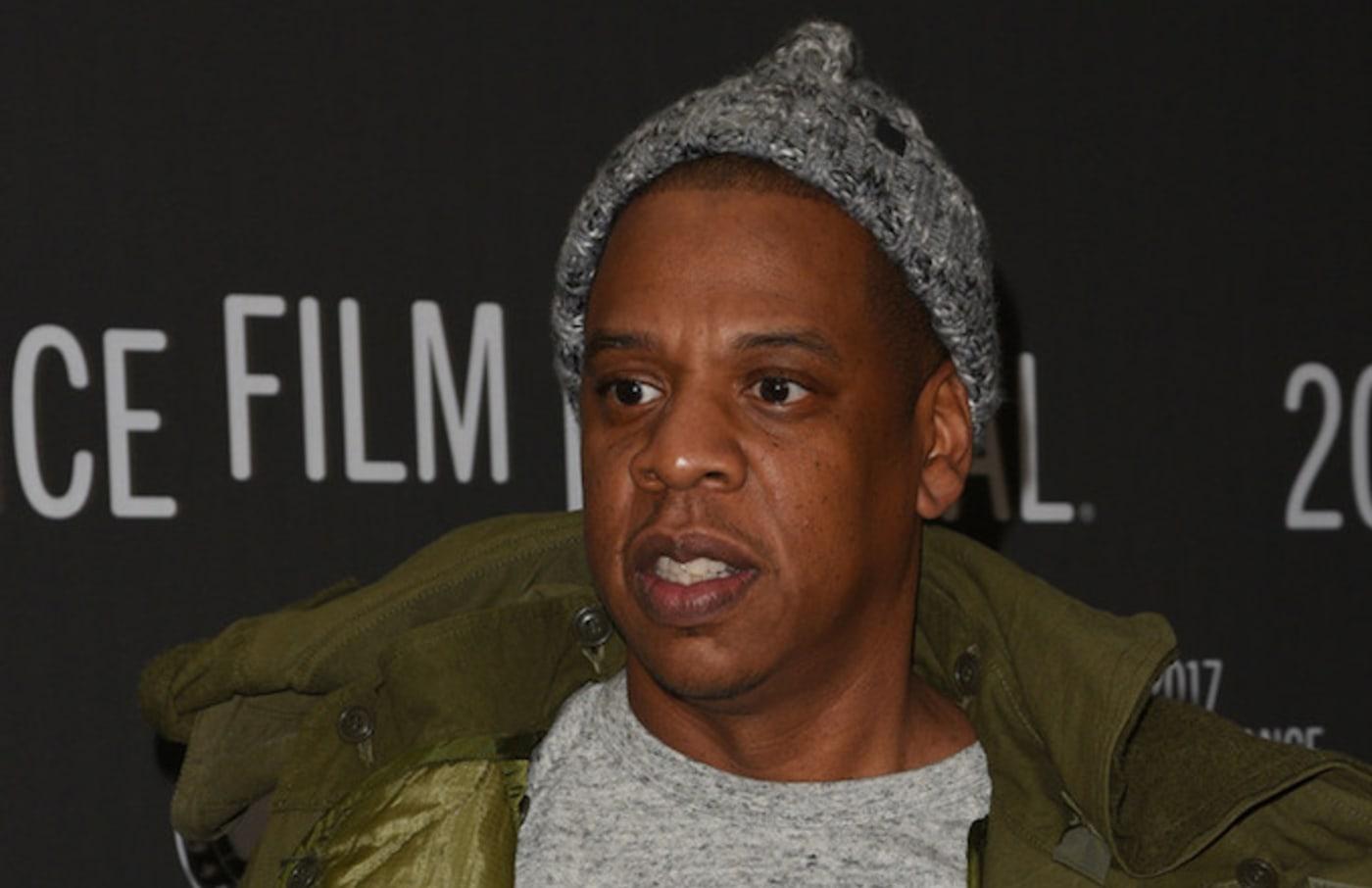 Jay Z attends premiere at the 2017 Sundance Film Festival.