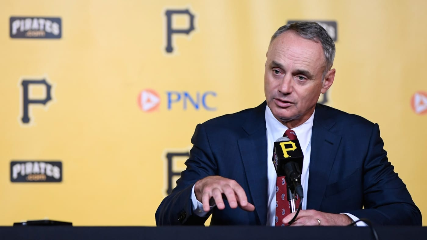 Commissioner of Baseball Robert Manfred answers questions