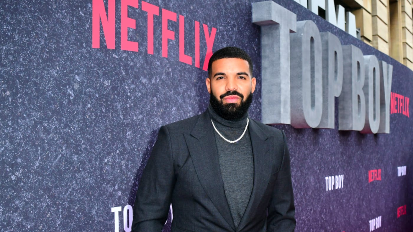 Drake attending the UK premiere of Top Boy