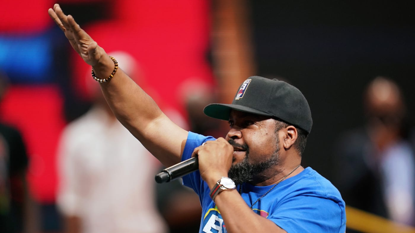 Ice Cube performs during BIG3 - Week Four at the American Airlines Center