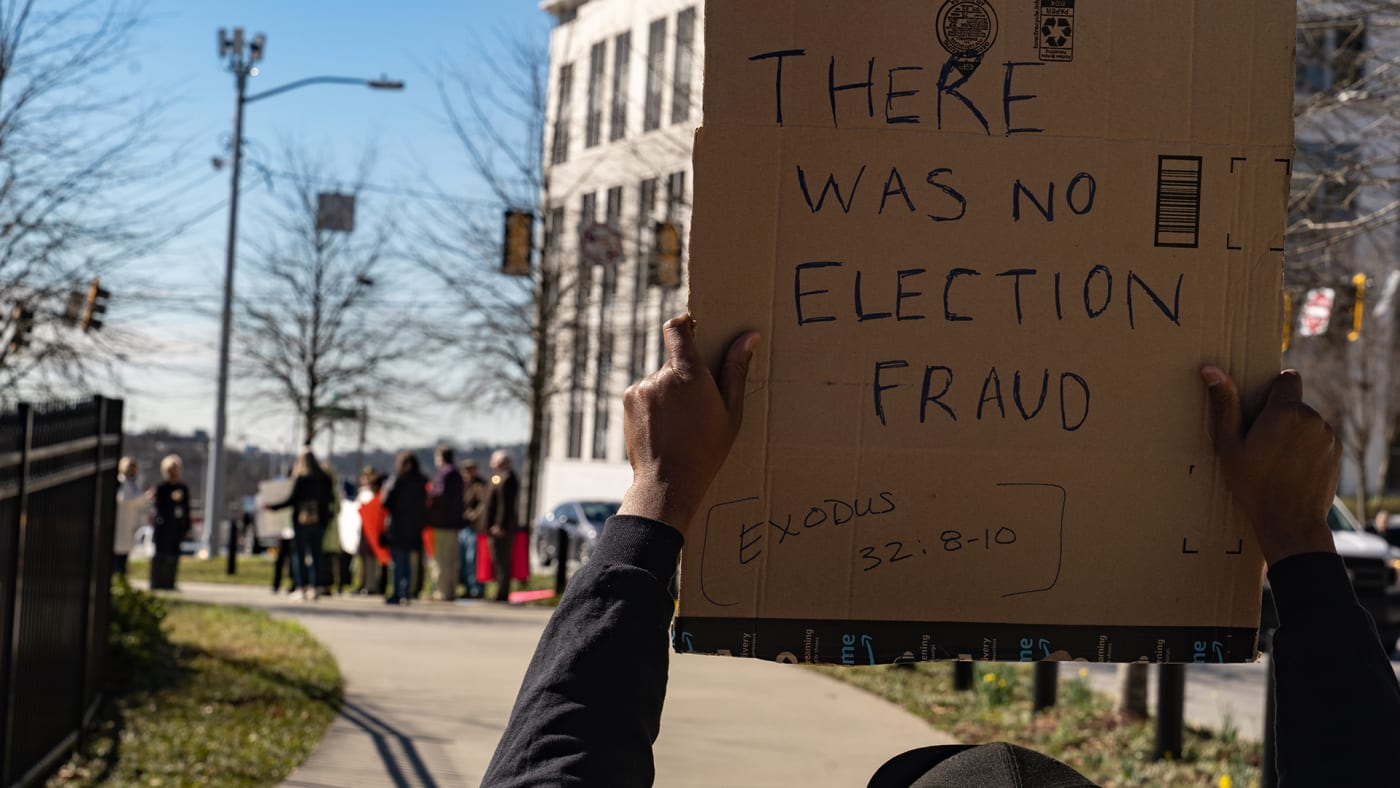 Georgia voting restrictions protest
