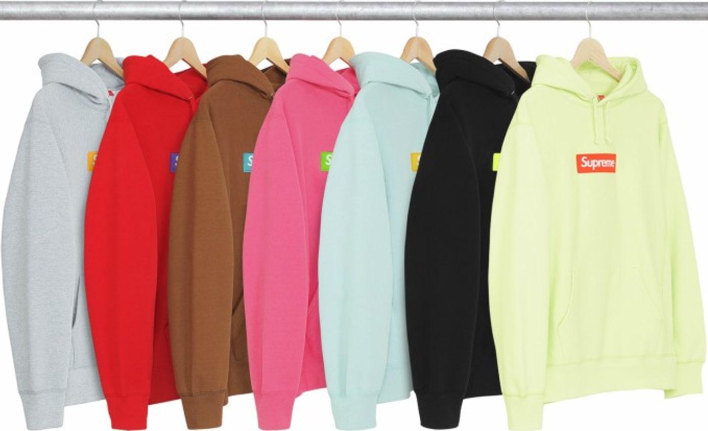 Supreme sweatshirts.