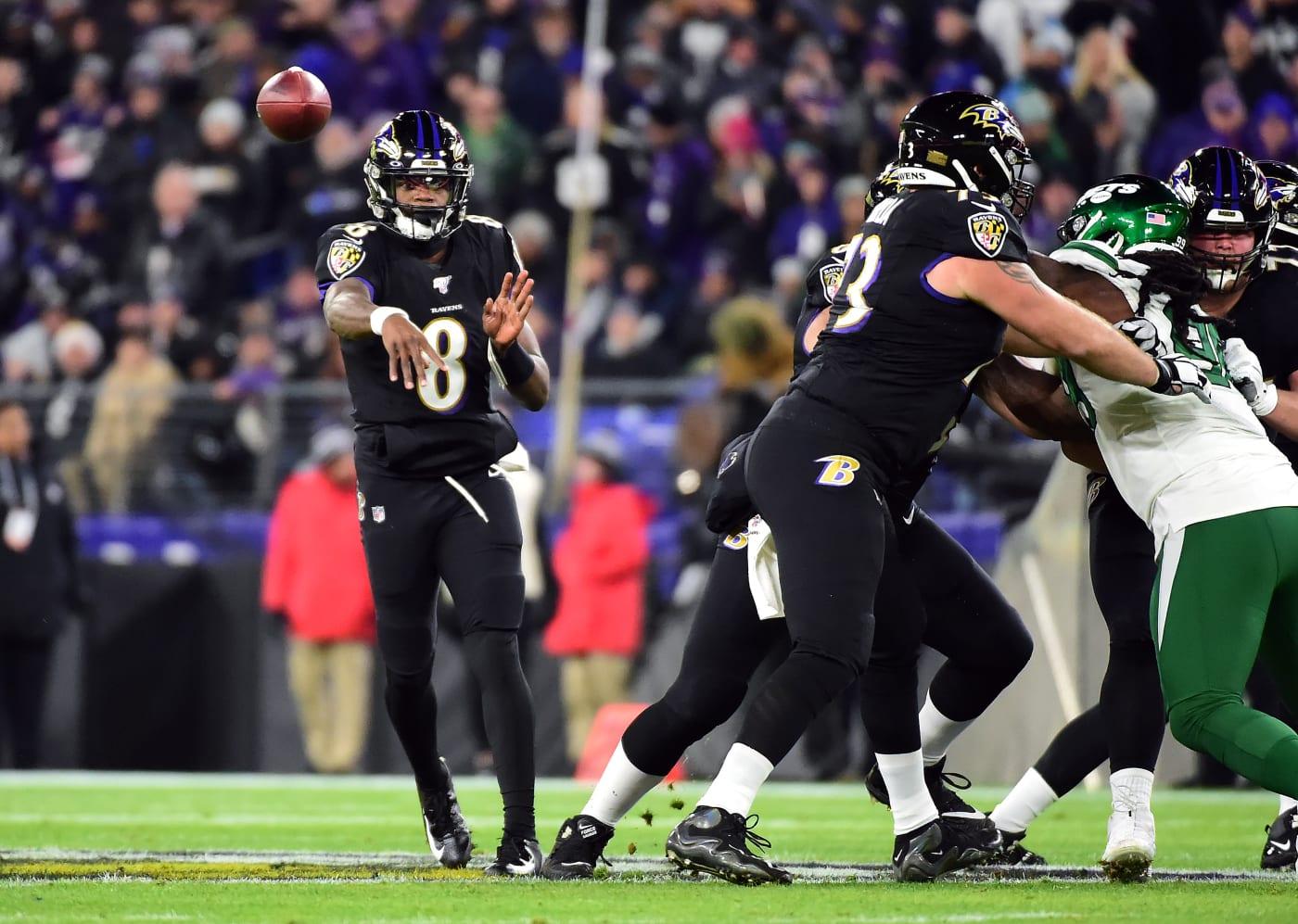 Lamar Jackson Ravens Jets 2019