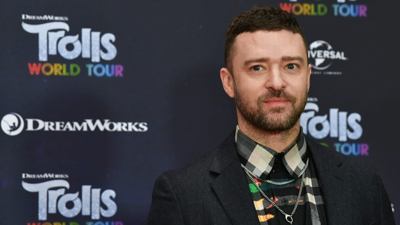"""Justin Timberlake, actor and musician, is at the photo shoot for the movie """"Trolls World Tour"""""""