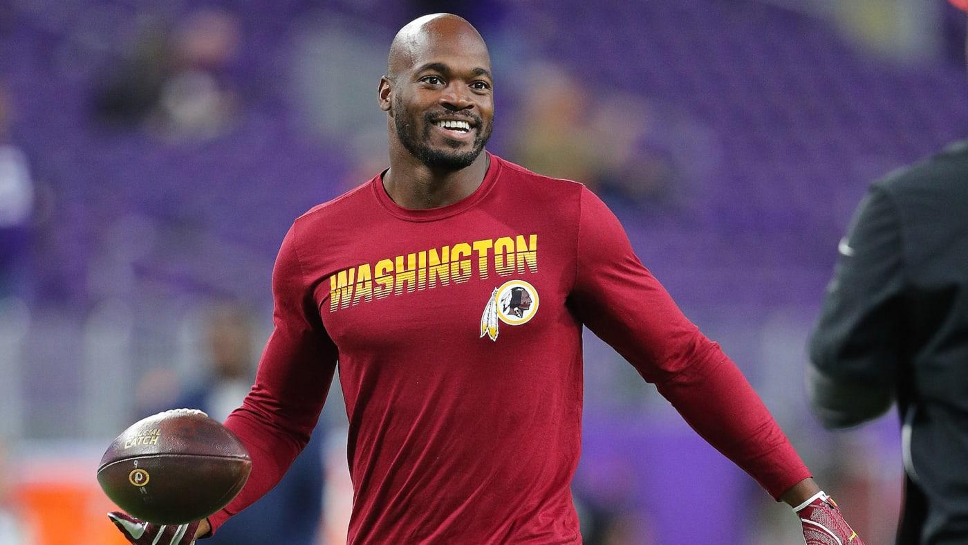 Adrian Peterson #26 of the Washington Redskins