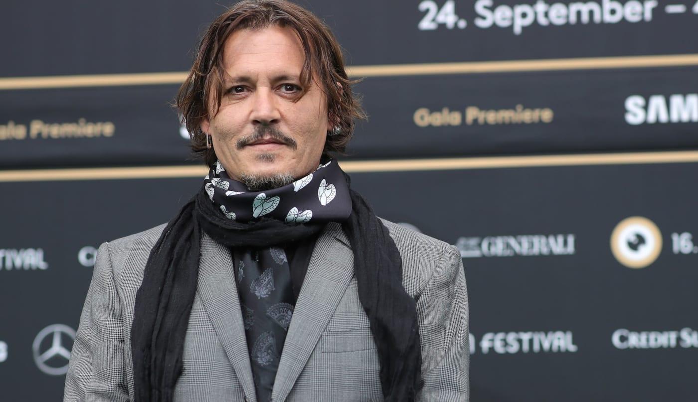 Johnny Depp on red carpet