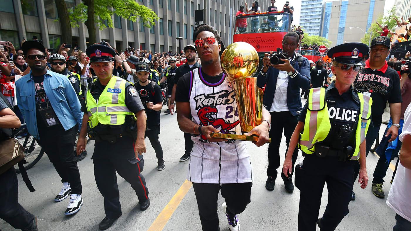 Kyle Lowry at Toronto Raptors championship parade