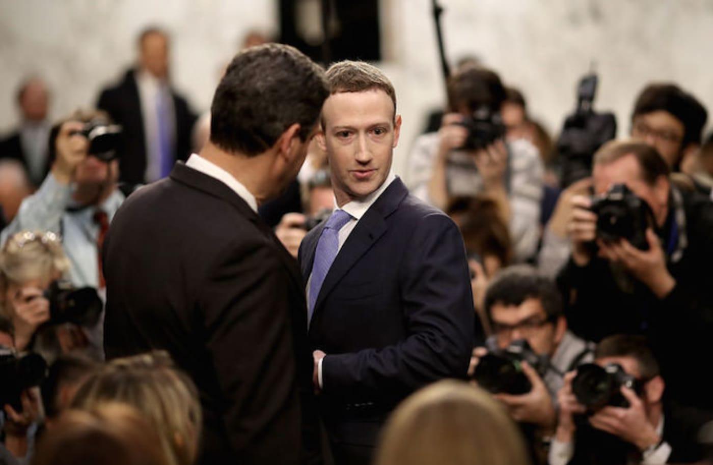 Mark Zuckerberg Senate