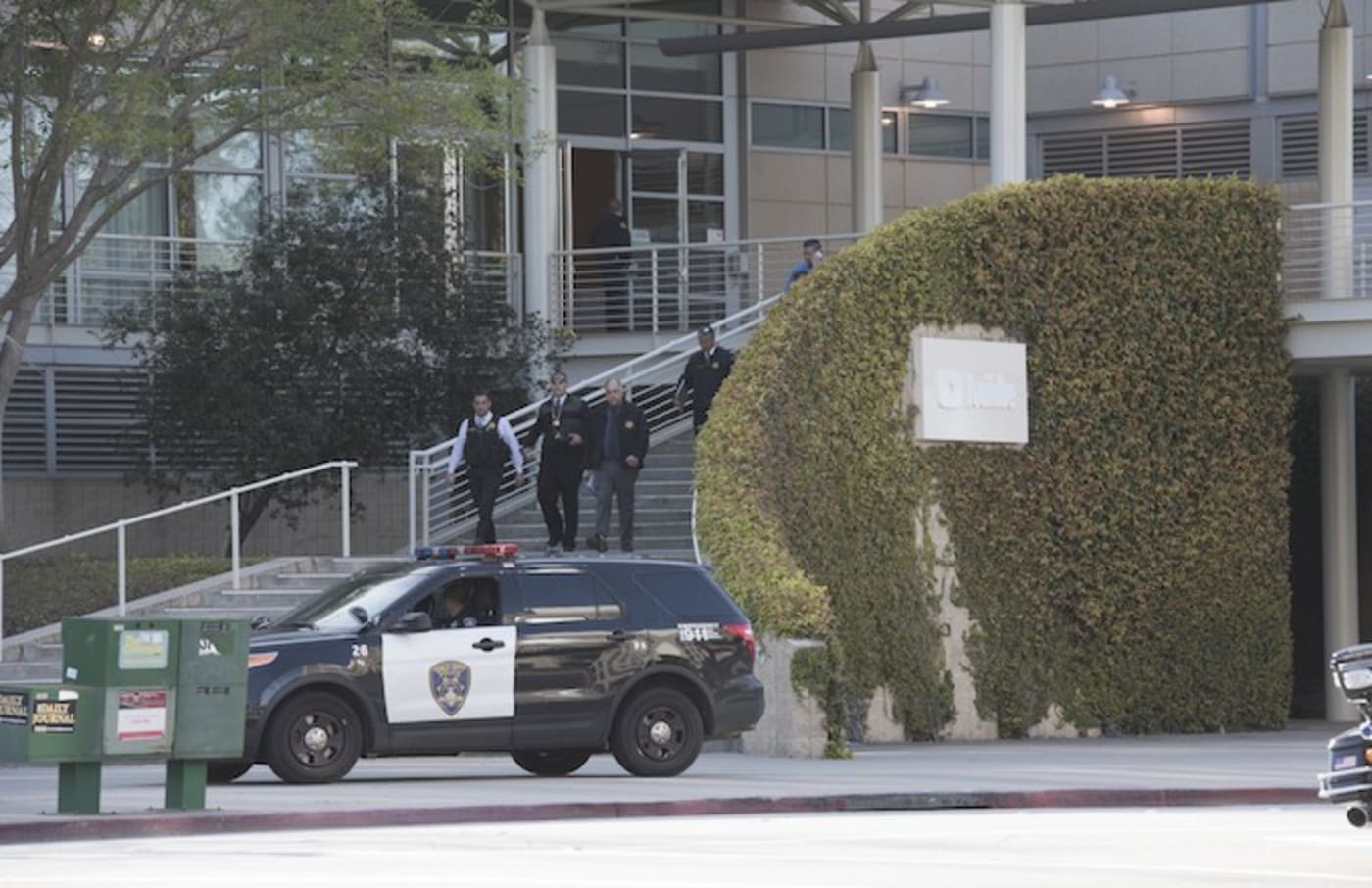 YouTube headquarters on April 3, soon after a shooting