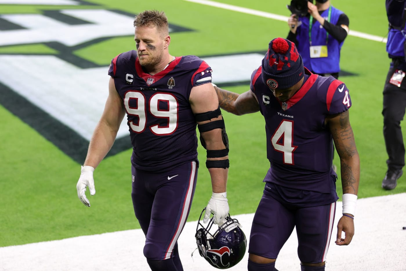 JJ Watt Deshaun Watson Texans Titans 2021