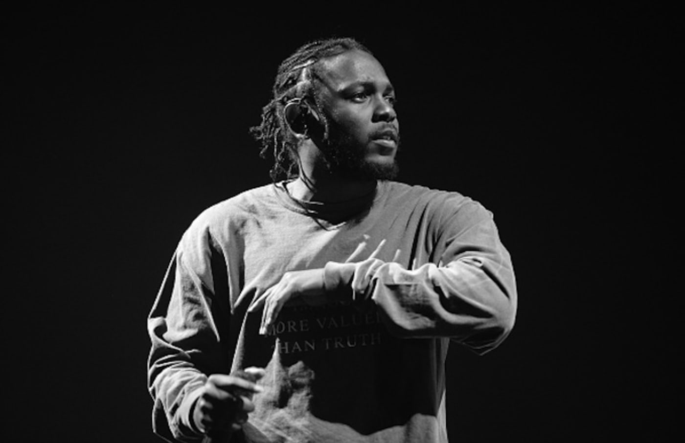 Kendrick Lamar performs onstage during FYF Festival