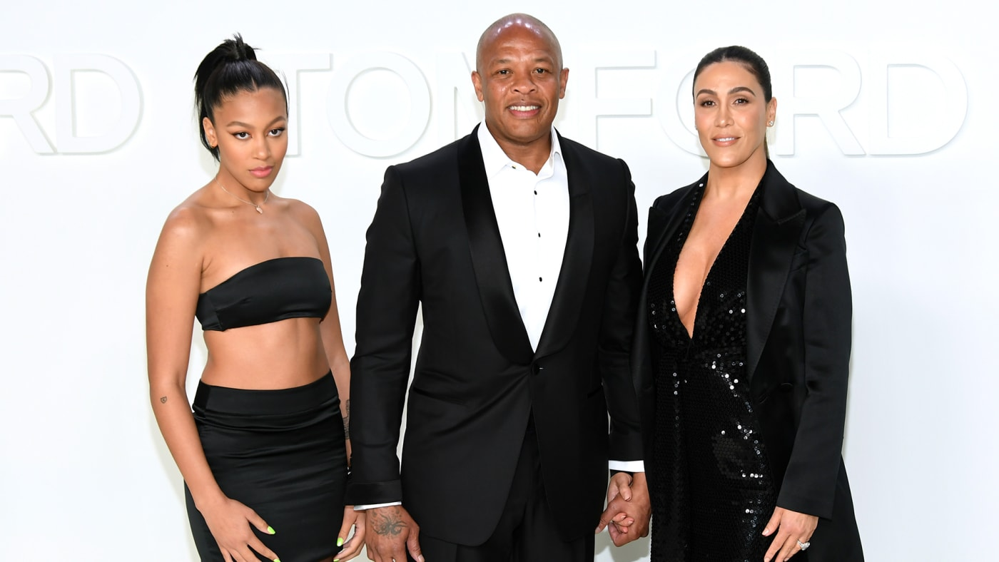 Dre, his daughter Truly, and Nicole Young.