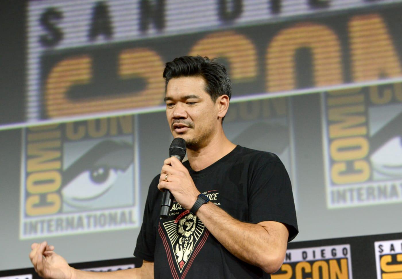 Destin Daniel Cretton speaks the Marvel Studios Panel during 2019 Comic Con