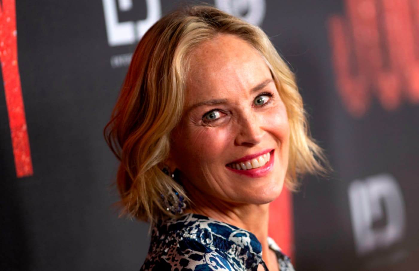"""Actress Sharon Stone attends the Los Angeles Premiere of """"Judy"""" at the Samuel Goldwyn Theater."""