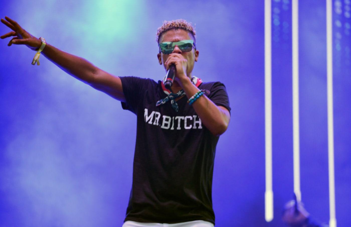 Rapper iLoveMakonnen performs at the LA Pride Music Festival