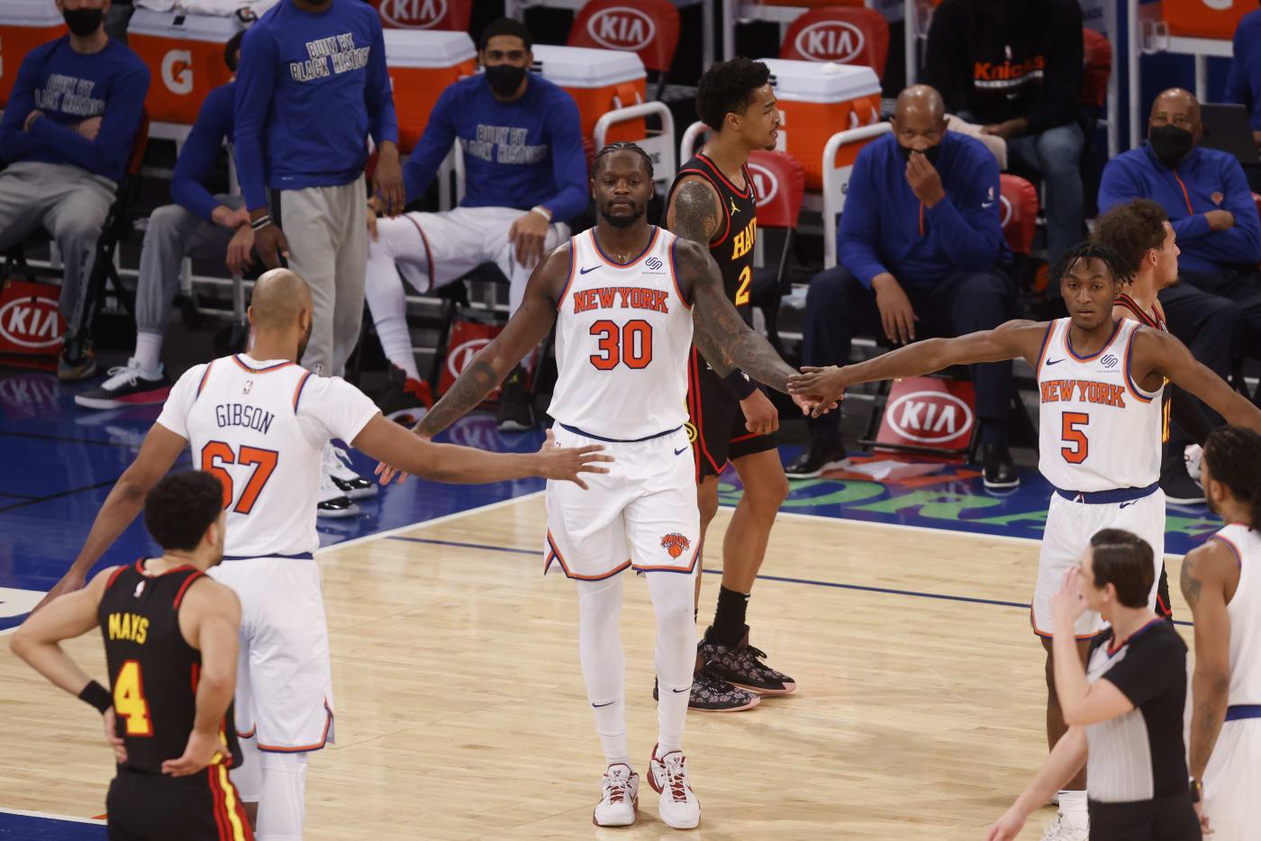 Julius Randle Gibson Quickley Knicks Hawks 2021