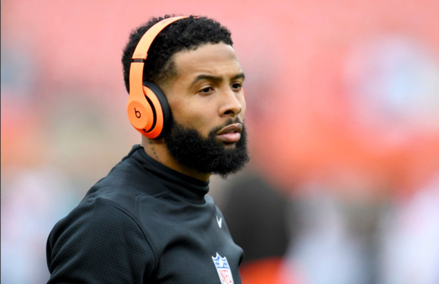 Wide receiver Odell Beckham #13 of the Cleveland Browns warms up