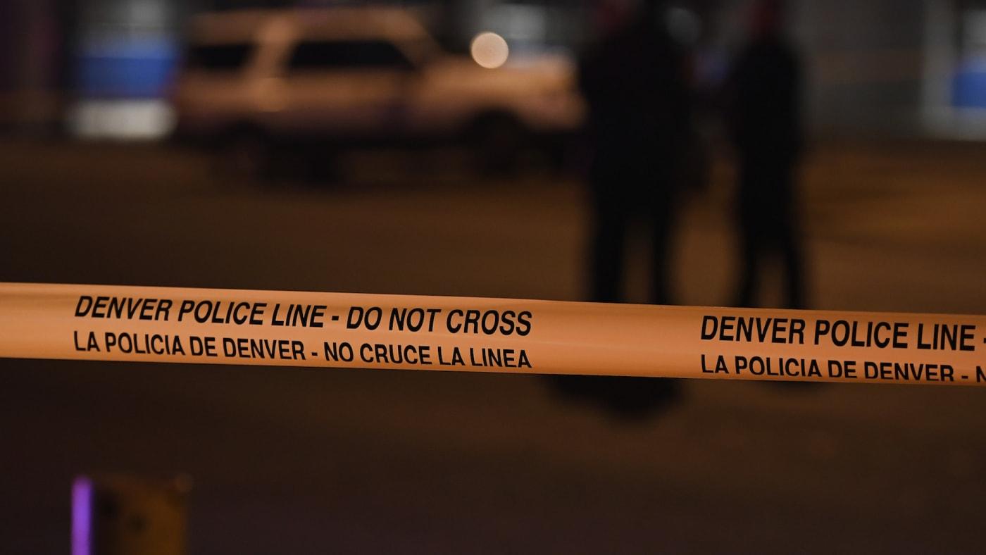 Crime tape closes off access to Sixth avenue east of Santa Fe