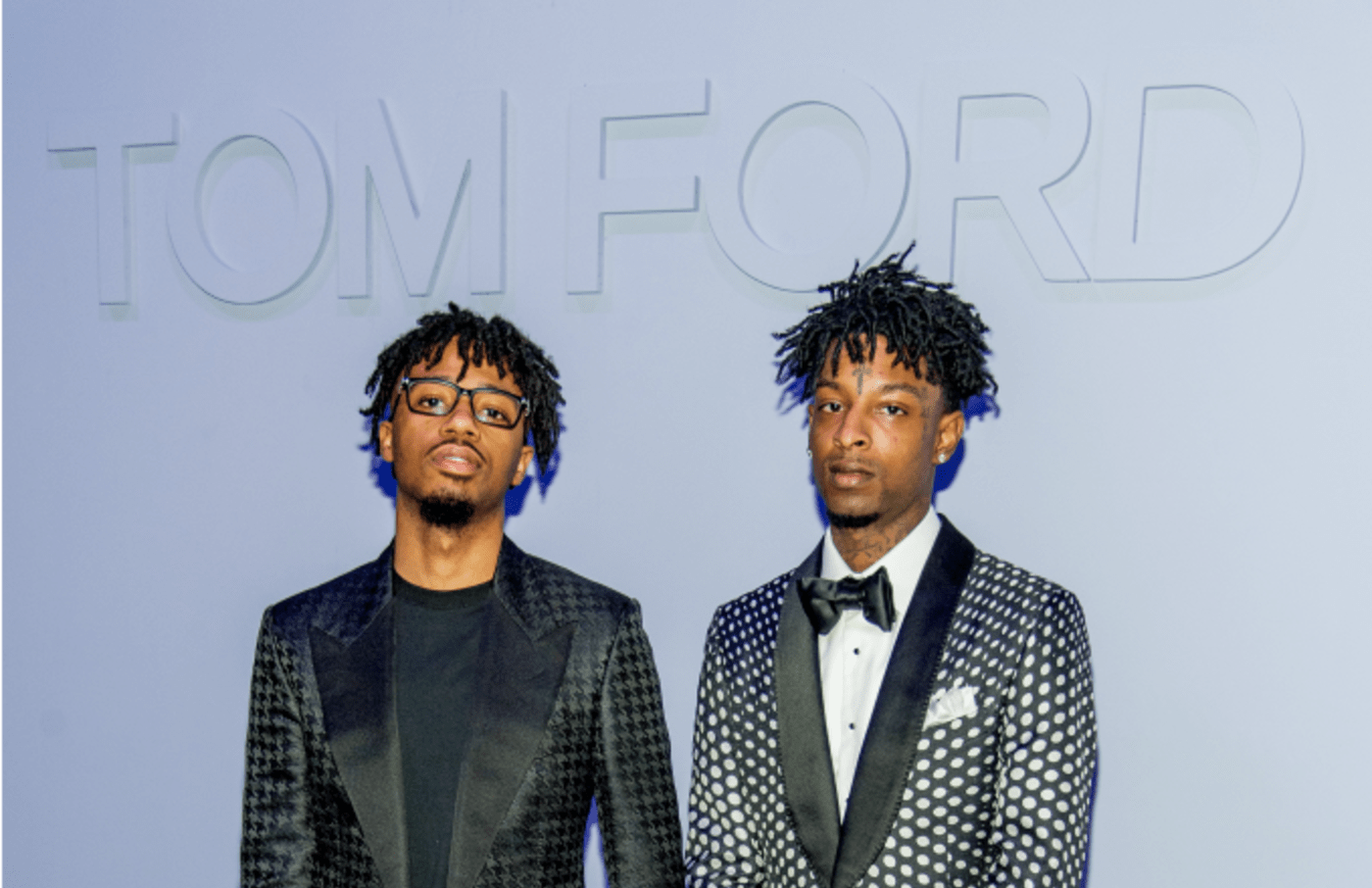 Metro Boomin and 21 Savage attends the Tom Ford Fall/ Winter 2018 Men's Runway Show