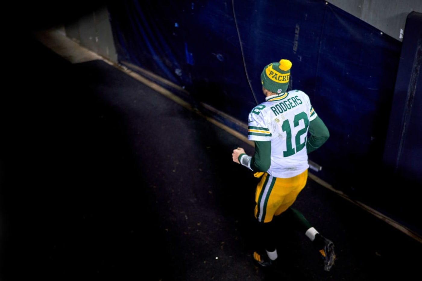 Aaron Rodgers Tunnel Packers Bears 2021