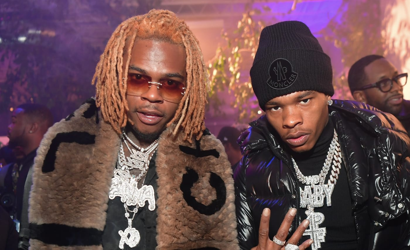 Gunna and Lil Baby pose for a picture together