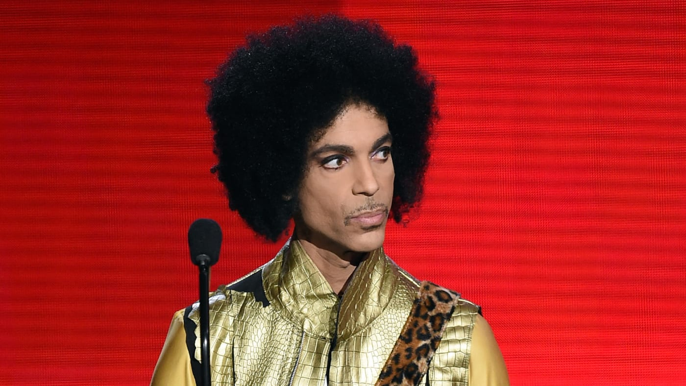 Musician Prince speaks onstage during the 2015 American Music Awards