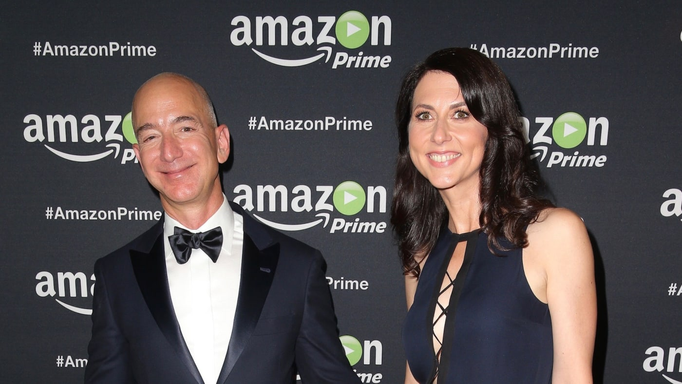 Jeff Bezos and MacKenzie Scott