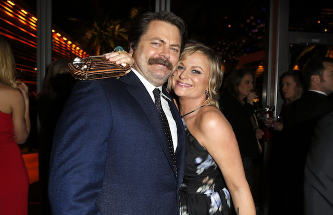 Nick Offerman and Amy Poehler, stars of 'Parks and Recreation.'